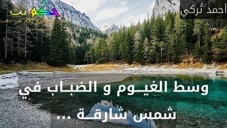 وسط الغيـــوم و الضبــاب في شمس شارقـــة ... -أحمد تُركي