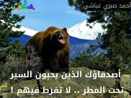 أصدقاؤك الذين يحبون السير تحت المطر .. لا تفرَط فيهم ! -أحمد صبري غباشي