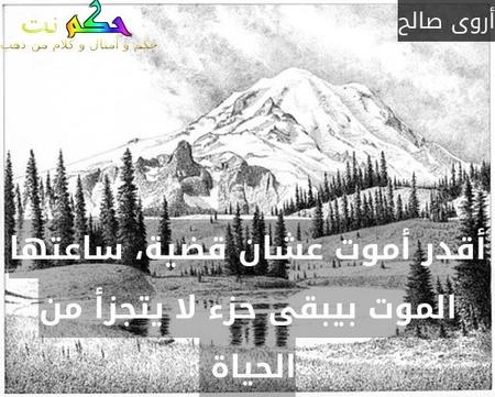 أقدر أموت عشان قضية، ساعتها الموت بيبقى حزء لا يتجزأ من الحياة -أروى صالح