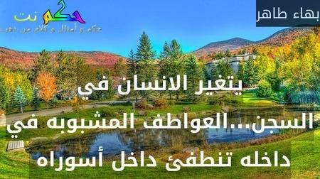 يتغير الانسان في السجن...العواطف المشبوبه في داخله تنطفئ داخل أسوراه -بهاء طاهر