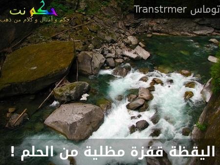 اليقظة قفزة مظلية من الحلم ! -توماس Transtrmer