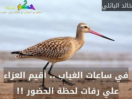 في ساعات الغياب .. أقيم العزاء علي رفات لحظة الحضور !! -خالد الباتلي
