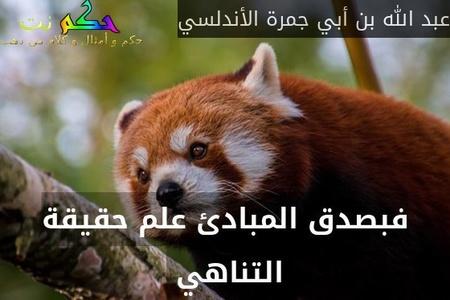 فبصدق المبادئ علم حقيقة التناهي -عبد الله بن أبي جمرة الأندلسي