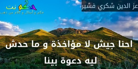 احنا جيش لا مؤاخذة و ما حدش ليه دعوة بينا -عز الدين شكري فشير