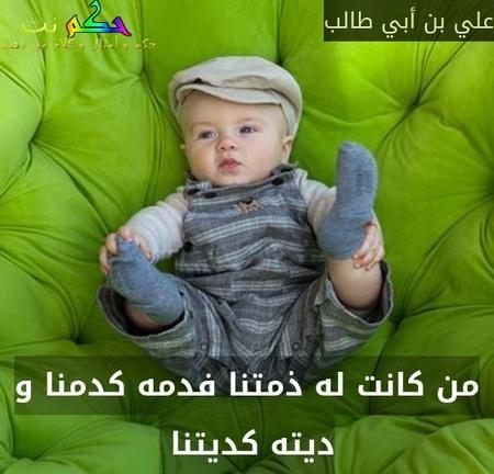 من كانت له ذمتنا فدمه كدمنا و ديته كديتنا -علي بن أبي طالب