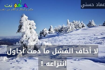 لا أخاف الفشل ما دمت أحاول انتزاعه ! -عماد حسني