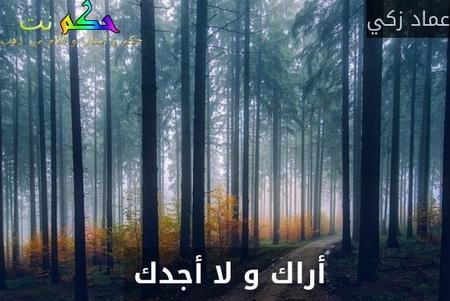 أراك و لا أجدك -عماد زكي
