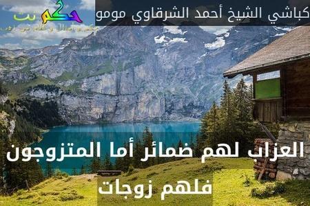 العزاب لهم ضمائر أما المتزوجون فلهم زوجات-كباشي الشيخ أحمد الشرقاوي مومو