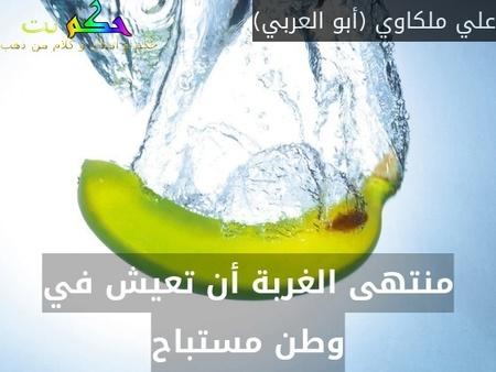 منتهى الغربة أن تعيش في وطن مستباح-علي ملكاوي (أبو العربي)