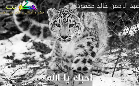 احبك يا الله-عبد الرحمن خالد محمود
