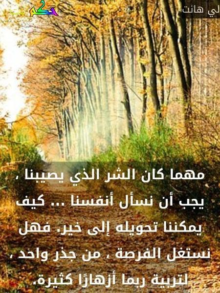لما تحس نفسك متوترة روح عانق شجرة.-عامر دندن