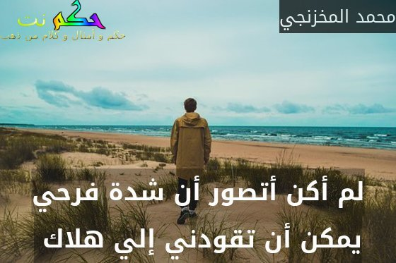 لم أكن أتصور أن شدة فرحي يمكن أن تقودني إلي هلاك -محمد المخزنجي
