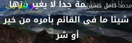 ان قدرة النظام على الخير أو الشر عظيمة جدا لا يغير منها شيئا ما فى القائم بأمره من خير أو شر -محمد كامل حسين