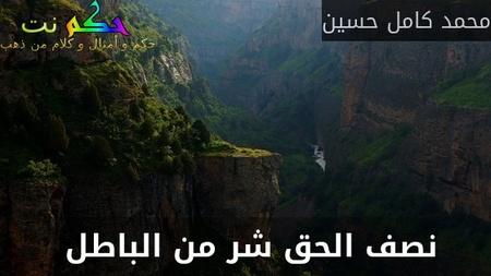 نصف الحق شر من الباطل -محمد كامل حسين