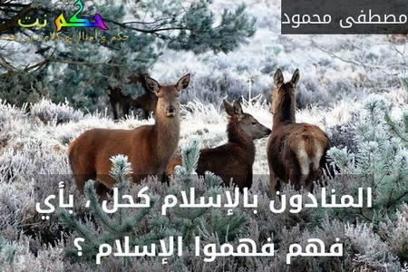 المنادون بالإسلام كحل ، بأي فهم فهموا الإسلام ؟ -مصطفى محمود
