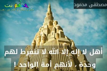 أهل لا إله إلا الله لا تنفرط لهم وحدة ، لأنهم أمة الواحد ! -مصطفى محمود