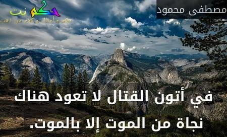 في أتون القتال لا تعود هناك نجاة من الموت إلا بالموت. -مصطفى محمود