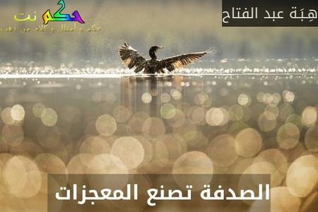 الصدفة تصنع المعجزات -هِـبَـة عبد الفتاح