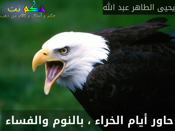 حاور أيام الخراء ، بالنوم والفساء -يحيى الطاهر عبد الله