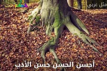 أحسن الحسن حسن الأدب -مثل عربي