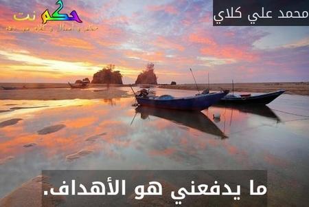 ما يدفعني هو الأهداف.-محمد علي كلاي