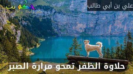 حلاوة الظفر تمحو مرارة الصبر-علي بن أبي طالب