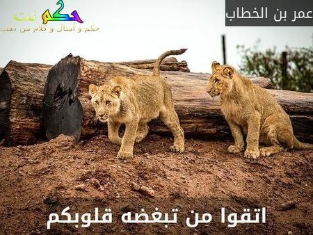 اتقوا من تبغضه قلوبكم-عمر بن الخطاب