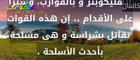 إن القوات المصرية تدخل سيناء من كل مكان، و فى كل اتجاه، و بكل الوسائل ، بطائرات الهليكوبتر و بالقوارب، وسيرا على الأقدام .. إن هذه القوات تقاتل بشراسة و هى مسلحة بأحدث الأسلحة .-كالمان