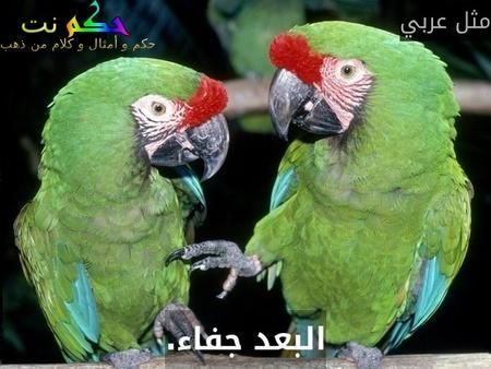 البعد جفاء.-مثل عربي