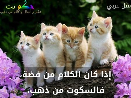 إذا كان الكلام من فضة، فالسكوت من ذهب.-مثل عربي