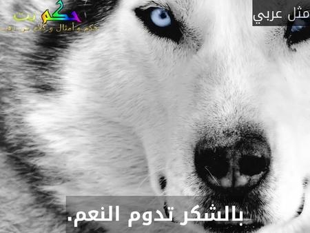 بالشكر تدوم النعم.-مثل عربي