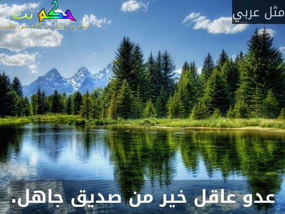 عدو عاقل خير من صديق جاهل.-مثل عربي