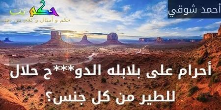 أحرام على بلابله الدو***ح حلال للطير من كل جنس؟-أحمد شوقي