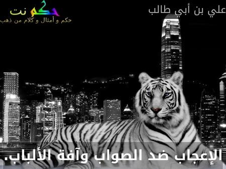 الإعجاب ضد الصواب وآفة الألباب.-علي بن أبي طالب